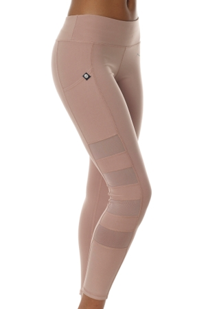 X by Gottex Victorian Pink High Waisted Mesh Sides Legging with Pocket