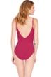 Gottex Wine Jezebel Surplice One Piece Swimsuit