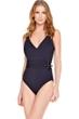 Gottex Black Jezebel Surplice One Piece Swimsuit
