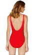 Full Coverage Gottex Diamond in the Rough Red Square Neck High Back One Piece Swimsuit