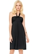 5-in-1 Gottex Lattice Black Beach Dress
