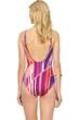 Gottex Art Deco Underwire Mesh Inset Surplice One Piece Swimsuit