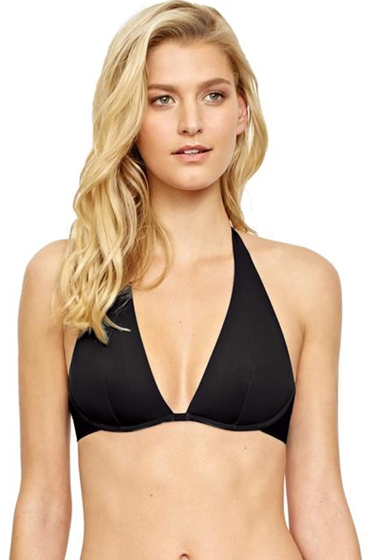 Gottex Au Naturel Black Underwire Halter Bikini Top