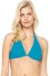 Gottex Au Naturel Turquoise Underwire Halter Bikini Top
