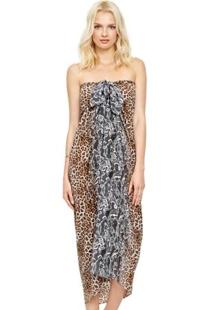 Gottex Cameroon Leopard Silk Pareo