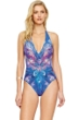 Gottex Dream Catcher V-Neck Halter One Piece Swimsuit