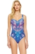 Gottex Dream Catcher Square Neck High Back One Piece Swimsuit
