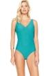 Gottex Essence Jade Surplice High Back One Piece Swimsuit