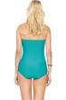 Gottex Essence Jade Bandeau Skirted One Piece Swimsuit