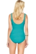 Gottex Essence Jade Square Neck High Back One Piece Swimsuit