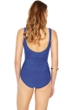 Gottex Essence Sapphire V-Neck Surplice High Back One Piece Swimsuit