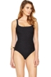 Gottex Essence Black Square Neck High Back One Piece Swimsuit