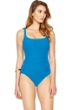 Gottex Essence Azure Square Neck High Back One Piece Swimsuit