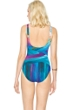 Gottex Festival Square Neck High Back One Piece Swimsuit