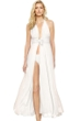 Gottex Grace Kelly Ivory Silk Halter Long Dress with Low Rise Bottom