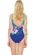 Gottex Hawaii Round Neck High Back One Piece Swimsuit