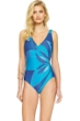 Gottex Kaleidoscope V-Neck Surplice High Back One Piece Swimsuit