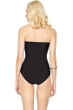 Gottex Lattice Black Bandeau One Piece Swimsuit