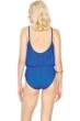 Gottex Lattice Royal Blue Underwire Mesh Blouson One Piece Swimsuit