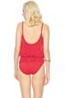 Gottex Lattice Red Underwire Mesh Blouson One Piece Swimsuit