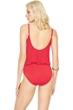 Gottex Lattice Red Underwire Blouson Surplice One Piece Swimsuit