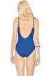 Gottex Lattice Royal Blue V-Neck One Piece Swimsuit