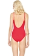 Gottex Lattice Red V-Neck One Piece Swimsuit