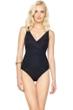Gottex Lattice Black Surplice One Piece Swimsuit