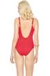 Gottex Lattice Red Square Neck One Piece Swimsuit