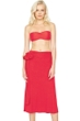 7-in-1 Gottex Lattice Red Dress