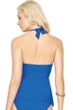 Gottex Lattice Royal Blue Flyaway Halter Tankini Top