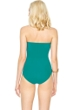 Gottex Landscape Emerald Lace Up Bandeau One Piece Swimsuit