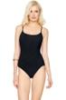Gottex Landscape Black Round Neck One Piece Swimsuit