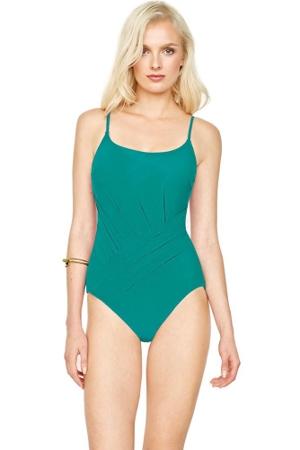 Gottex Landscape Emerald Round Neck One Piece Swimsuit
