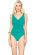 Gottex Landscape Emerald Surplice One Piece Swimsuit