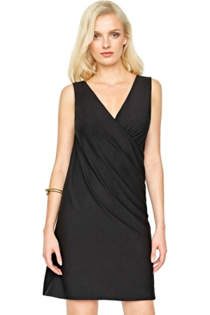Gottex Landscape Black Open Back Jersey Dress