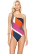 Gottex Maritime Orange One Shoulder One Piece Swimsuit