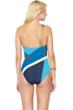 Gottex Maritime Blue One Shoulder One Piece Swimsuit