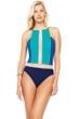 Gottex Maritime Blue High Neck One Piece Swimsuit