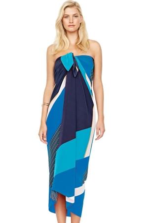 Gottex Maritime Blue Silk Pareo