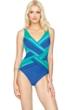 Gottex Radiance Sunrise V-Neck Surplice One Piece Swimsuit