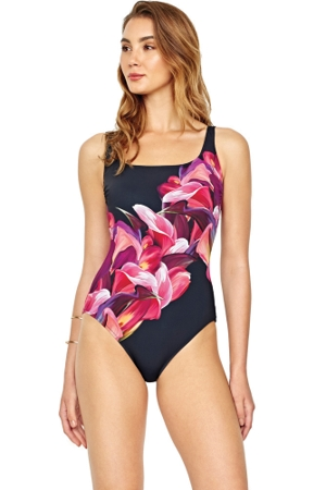 Gottex Sangria D-Cup Square Neck One Piece Swimsuit