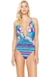 Gottex Samosir Deep Plunge Halter One Piece Swimsuit