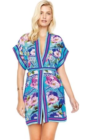 Gottex Samosir Silk Kimono with Belt