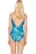 Gottex Tourmaline V-Neck Surplice One Piece Swimsuit
