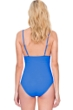 Gottex Au Naturel Dusk Blue V-Neck One Piece Swimsuit
