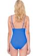 Gottex Au Naturel Dusk Blue V-Neck One Piece Swimsuit