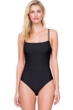 Gottex Au Naturel Black Square Neck Lingerie Underwire One Piece Swimsuit