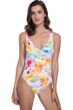 Gottex Aquarelle Yellow Underwire One Piece Swimsuit
