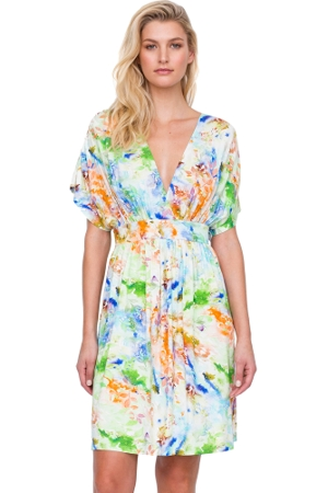 Gottex Aquarelle Green Beach Dress